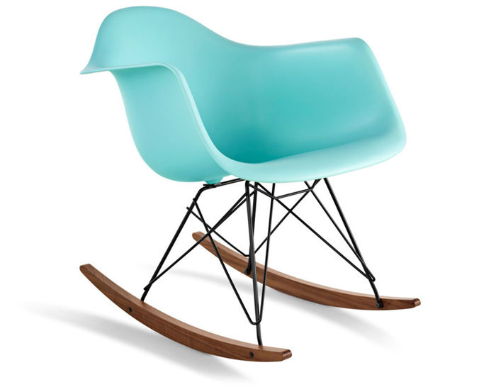 eames® molded plastic armchair with rocker base - hivemodern