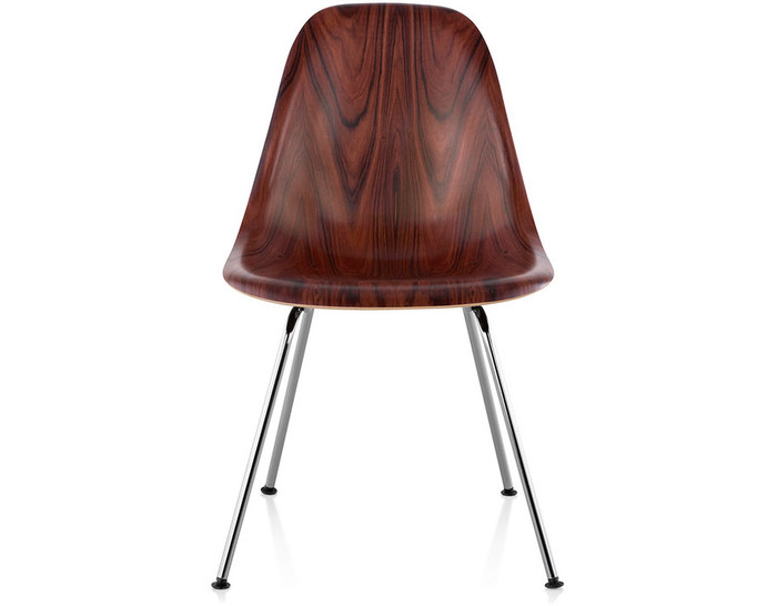 eames® molded wood side chair with 4 leg base