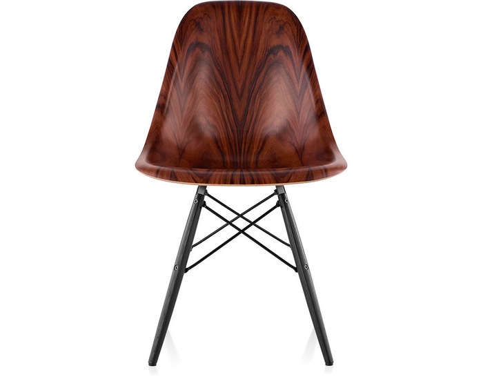 eames® molded wood side chair with dowel base