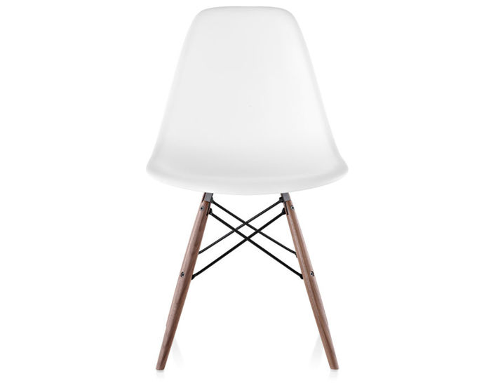 Gentil Eames® Molded Plastic Side Chair With Dowel Base