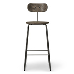 earth stool with backrest  - mater