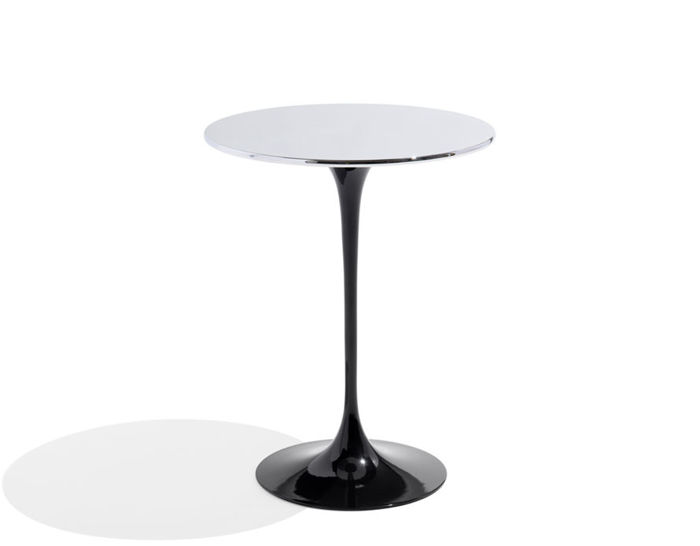 saarinen side table with polished chrome top