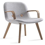 ej3 eyes lounge chair with arms  - erik jorgensen