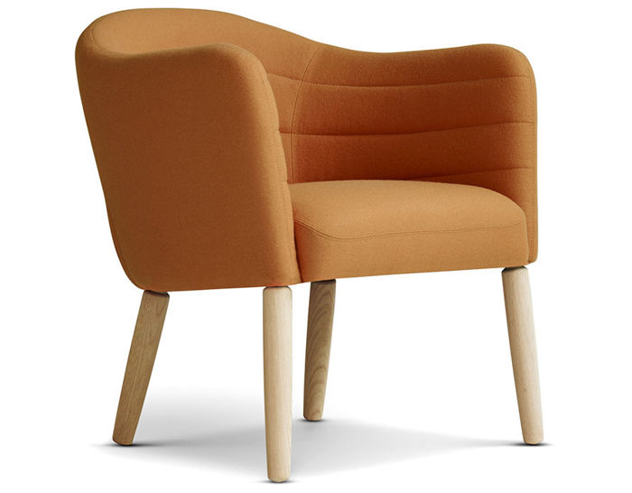 ej44 lemon easy chair with wood legs