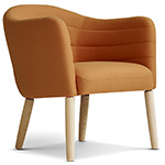 ej44 lemon chair with wood legs  - erik jorgensen