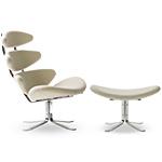 ej5 corona chair & ottoman  - erik jorgensen
