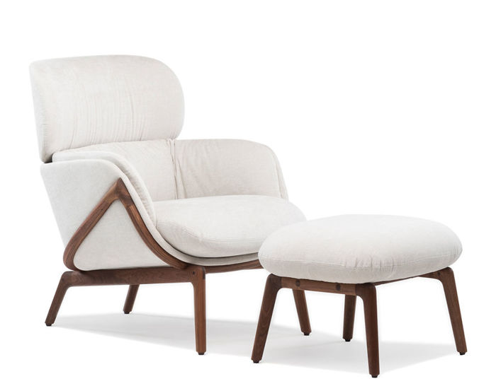 elysia lounge chair & nino ottoman