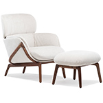 elysia lounge chair & nino ottoman  -