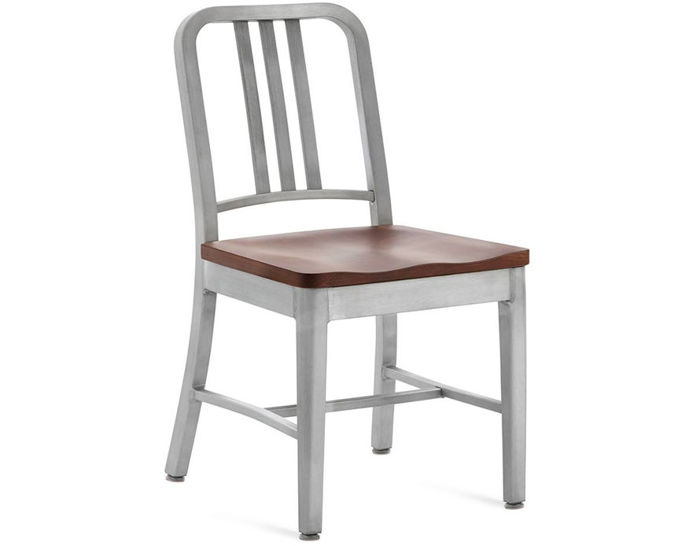 emeco navy chair with wood seat