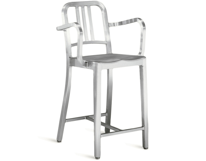 emeco navy stool with arms