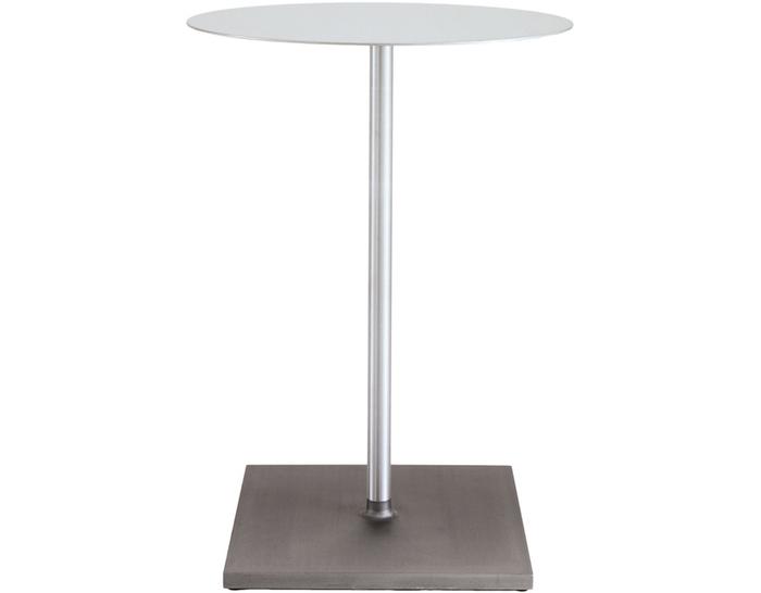 emeco round brushed cafe table