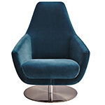 enzo lounge chair with swivel base  - Montis