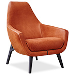 enzo lounge chair with wood base  - Montis