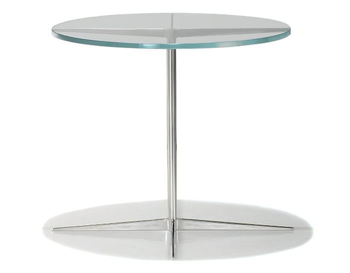 facet round side table