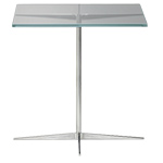 facet square side table