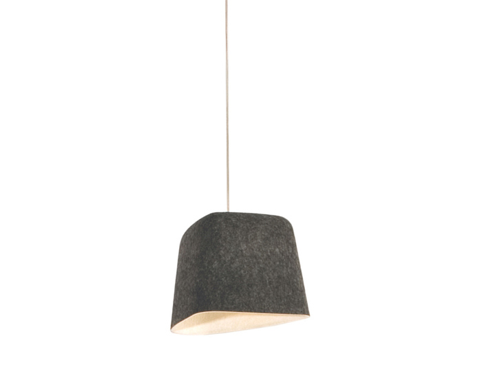 felt shade suspension lamp