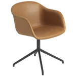 fiber armchair with swivel base  -