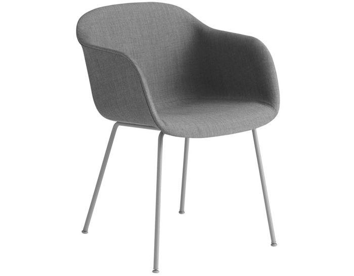 fiber armchair with tube base