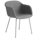 fiber armchair with tube base  - muuto