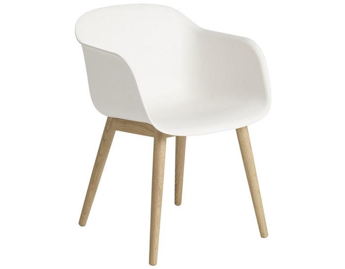 fiber armchair with wood base