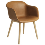 fiber armchair with wood base  - muuto