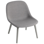 fiber lounge chair with wood base  - muuto