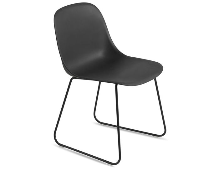fiber side chair with sled base
