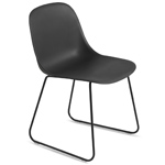 fiber side chair with sled base  -