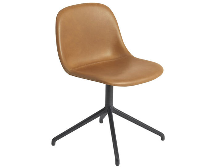 fiber side chair with swivel base