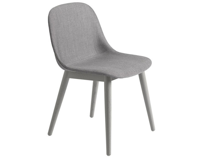 fiber side chair with wood base