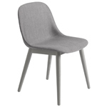 fiber side chair with wood base  -