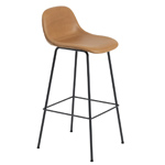 fiber stool with backrest and tube base  -