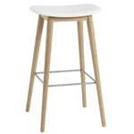 fiber stool with wood base  -