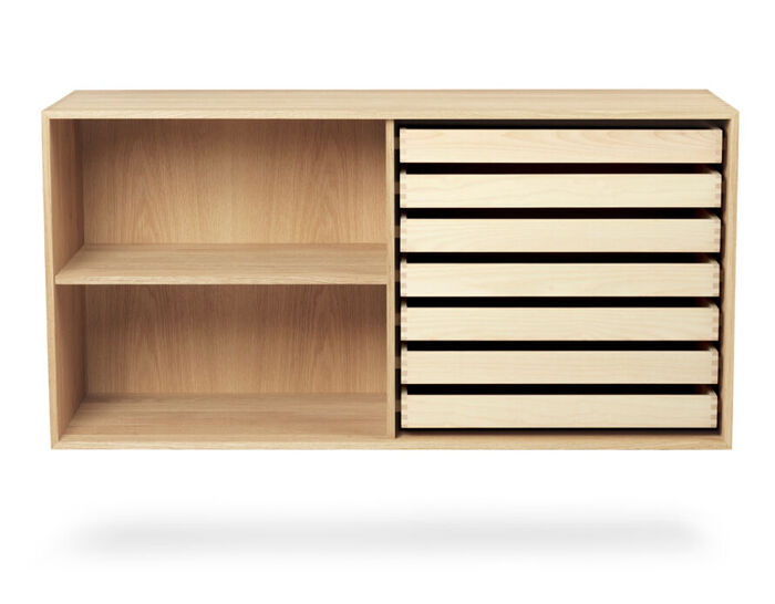 fk63 deep bookcase with trays