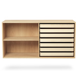 fk63 deep bookcase with trays - Kastholm & Fabricius - Carl Hansen & Son