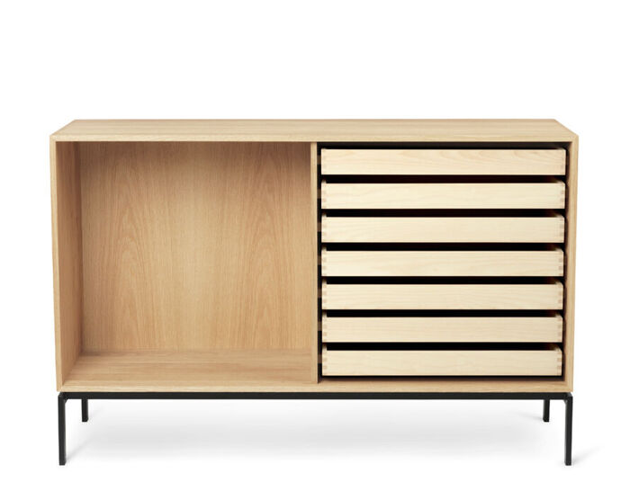 fk63 floor standing open bookcase with trays