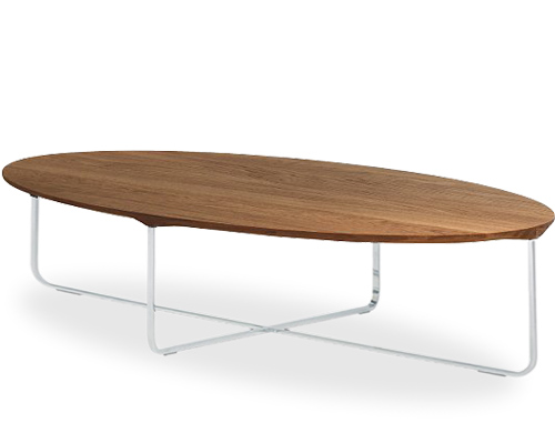 Flint 140 Oval Coffee Table Hivemodern Com