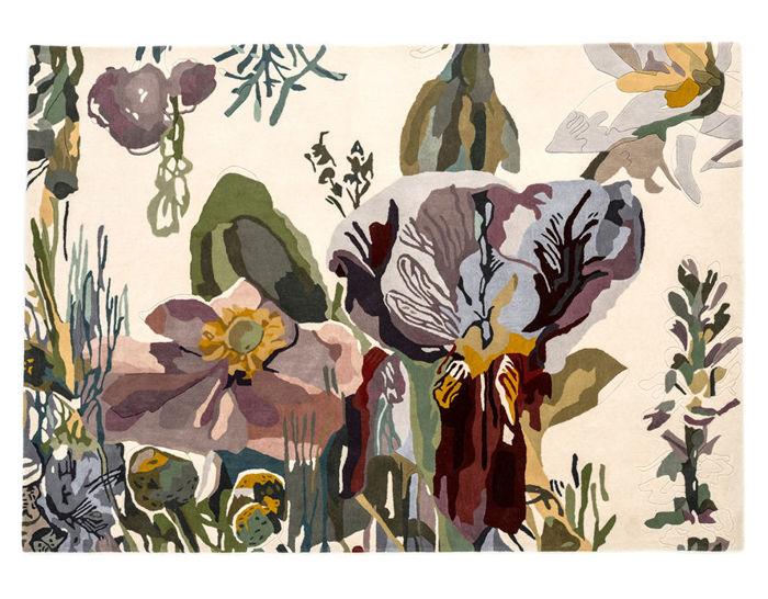 flora backyard rug