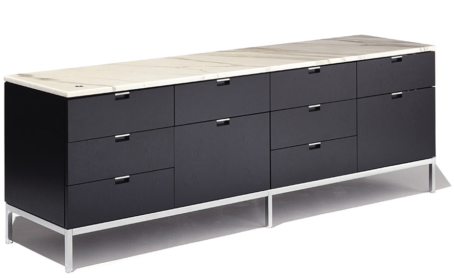 Florence Knoll 4 Position Credenza With Drawers - hivemodern.com