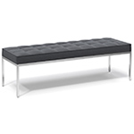 florence knoll relaxed three seat bench  -