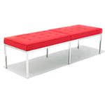 knoll three seat bench  -