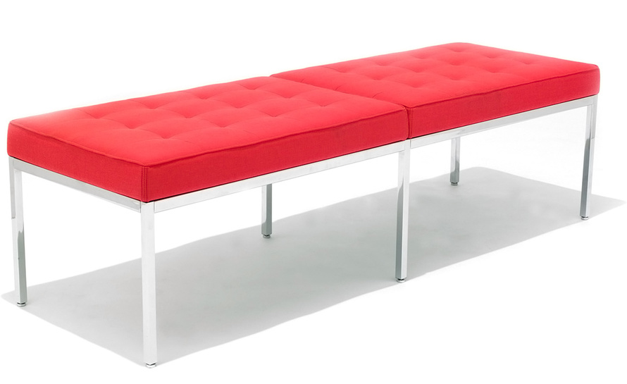 florence knoll three seat bench