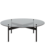 flume round coffee table  - blu dot