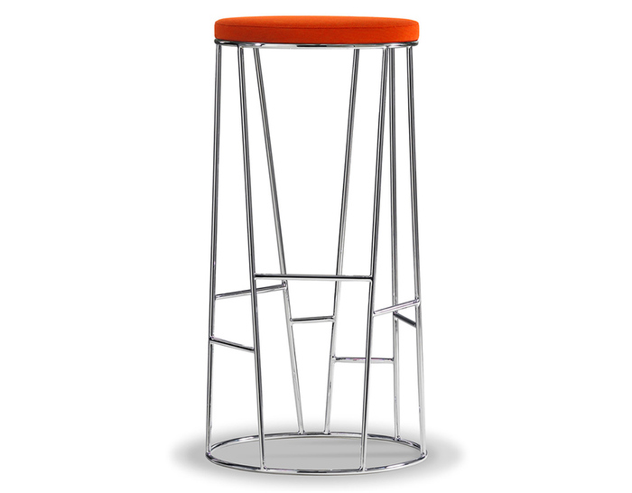 forest stool with upholstered seat