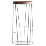 forest stool with wood seat - Arik Levy - Bernhardt Design