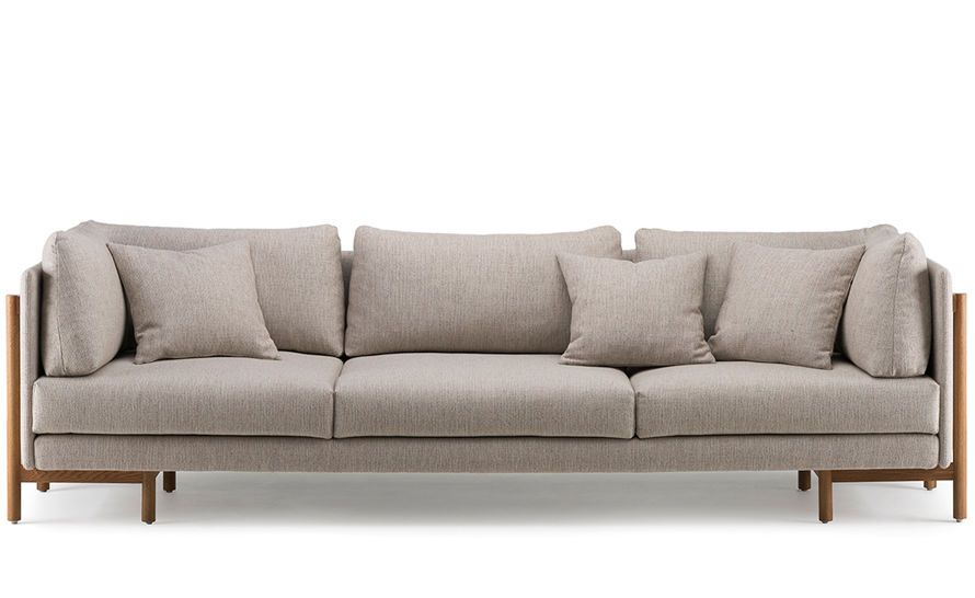 Frame Long Sofa With Arms 766la