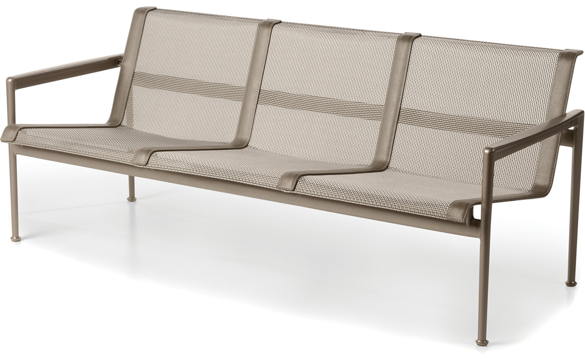 1966 Three Seat Lounge Chair With Arms