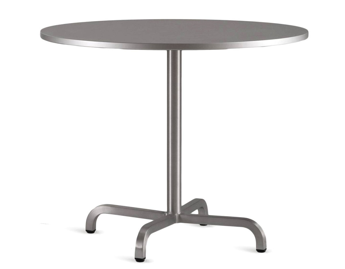 Emeco Round Cafe Table Hivemoderncom - Round metal cafe table