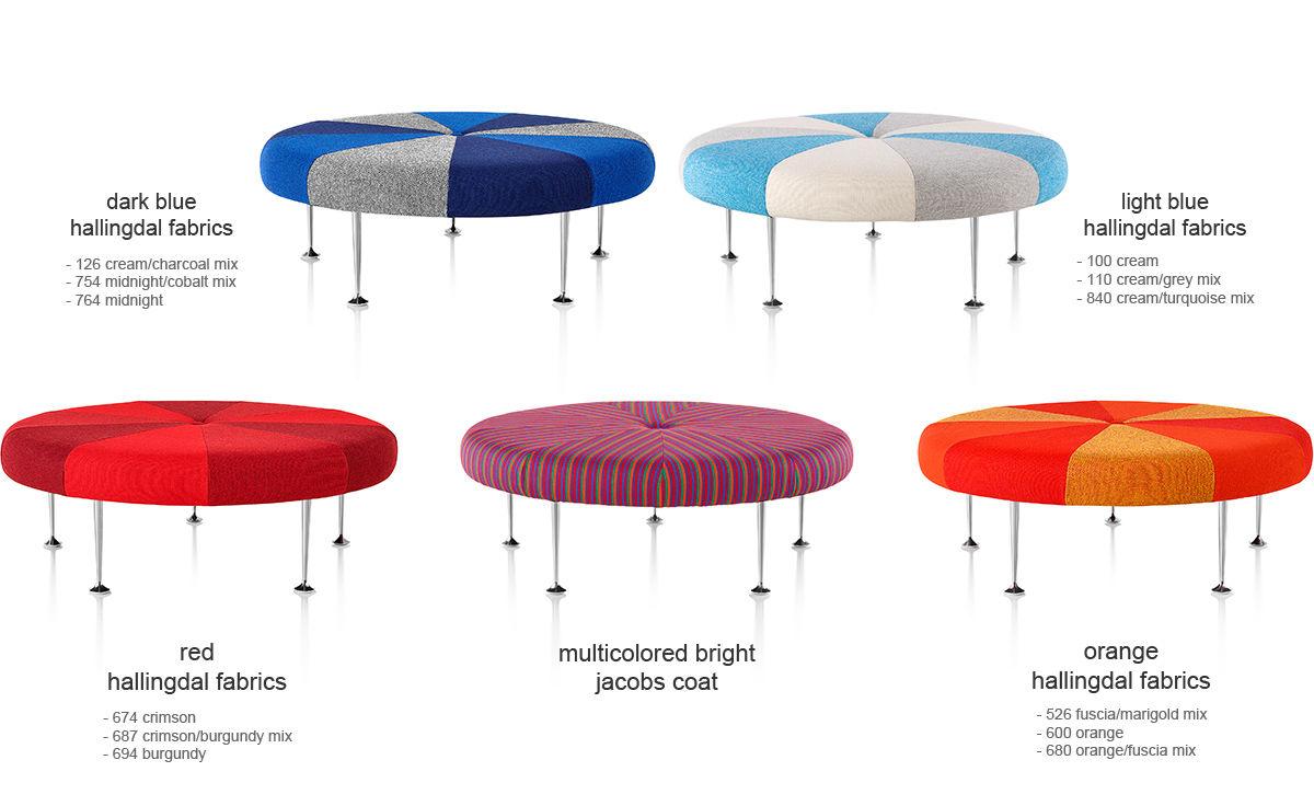Alexander Girard Color Wheel Ottoman Hivemoderncom