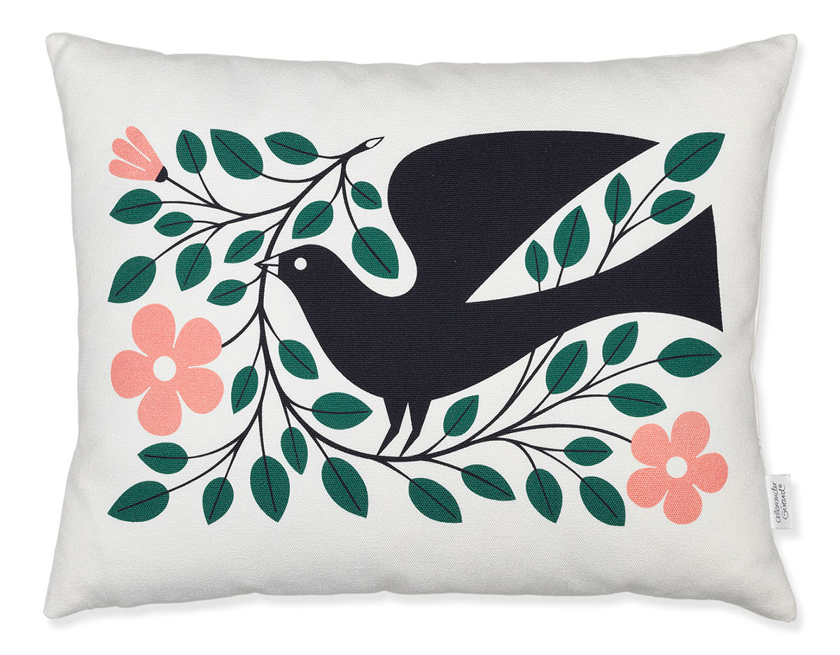 Alexander Girard Graphic Print Dove Pillow - hivemodern.com